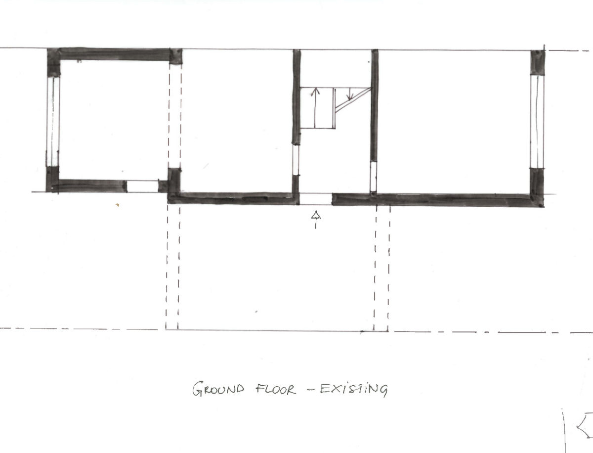 Garage conversion ideas 1950s semi detached side for Cost to side a garage
