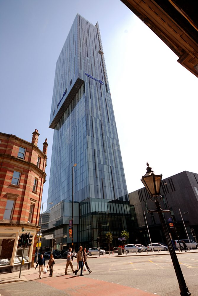 Beetham Tower, by Mancunian Architecture firm, Ian Simpson Associates