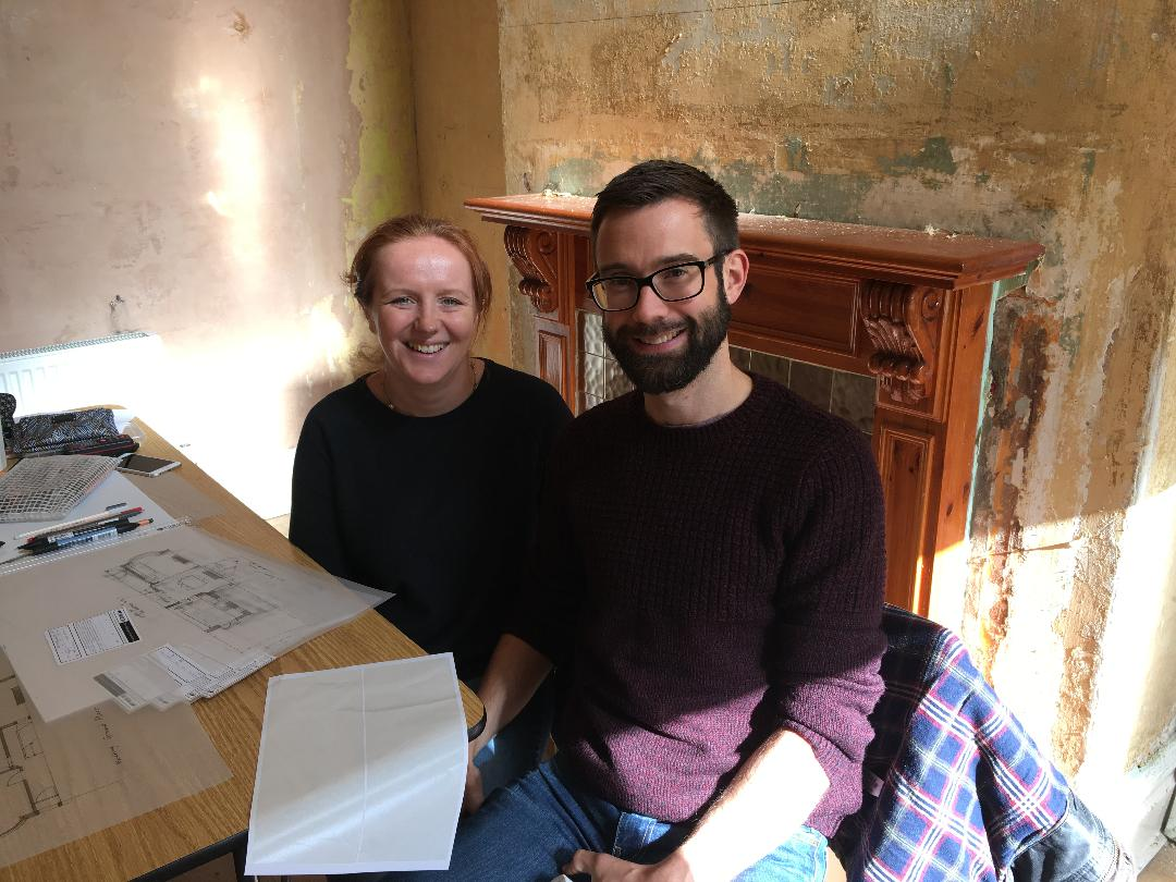 Kerry and Steven in their Chorlton Architect workshop