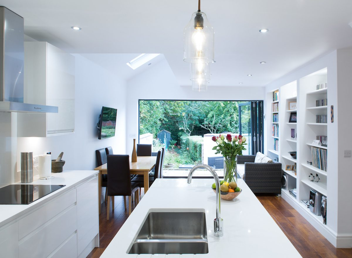 Mono pitched roof pride road architects for Terrace kitchen extension