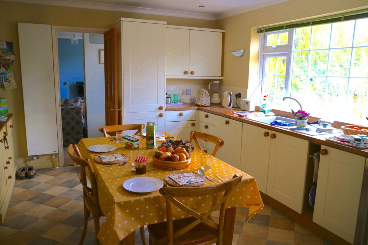 A New Kitchen with views of the garden